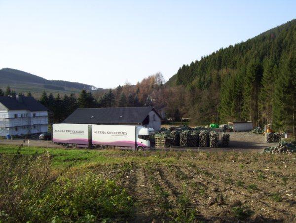 Overzicht laadplaats in Sauerland